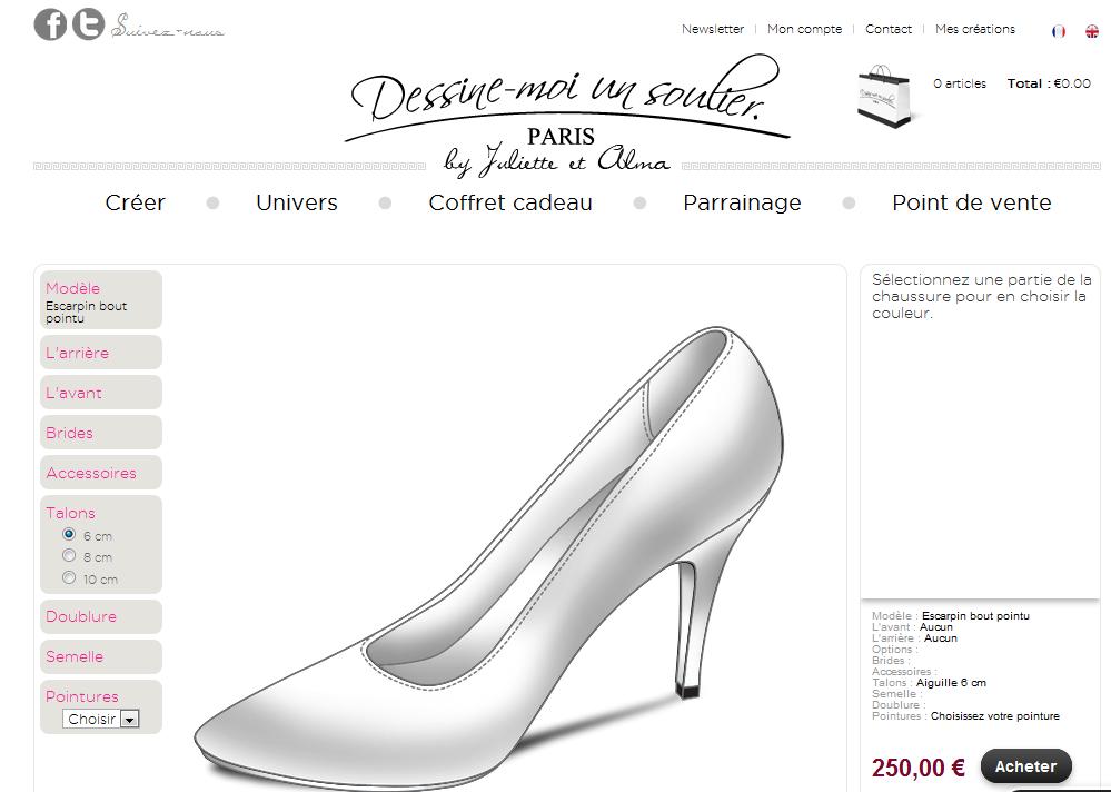 Créer ses chaussures via internet