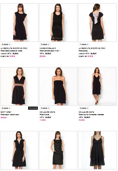 robes noires La redoute