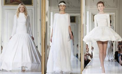 Défilés de robes de mariée au Printemps Haussman