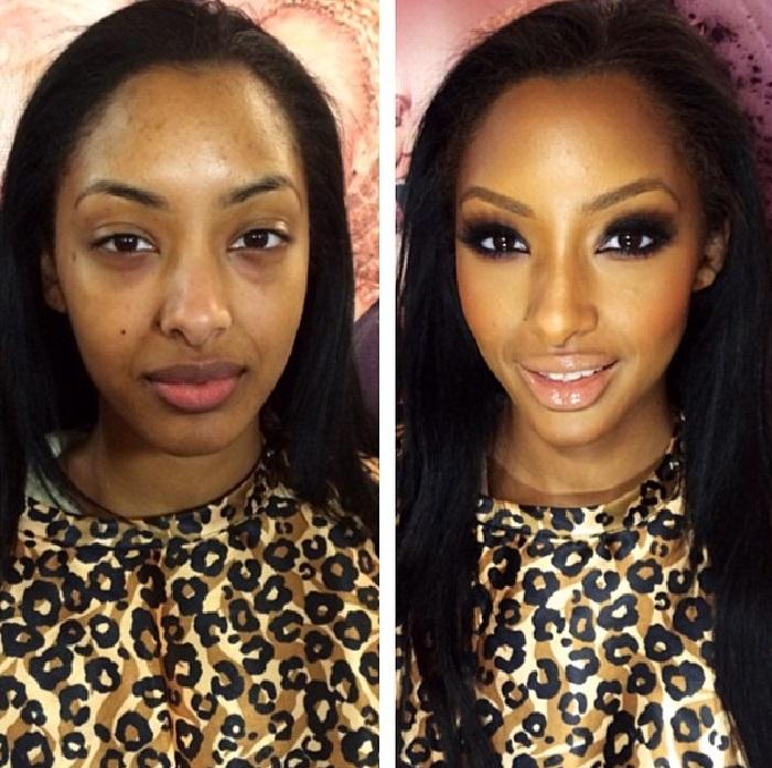 Avant et après un énOrme effort de maquillage