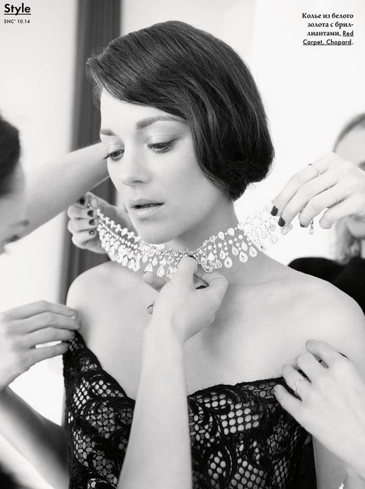 Marion Cotillard et un collier Chopard