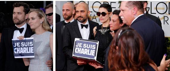 «Je suis Charlie» aux Golden Globes 2015