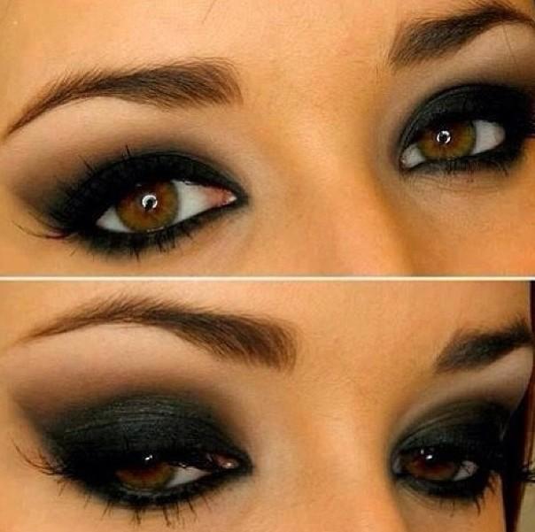 yeux charbonneux ou smoky eyes