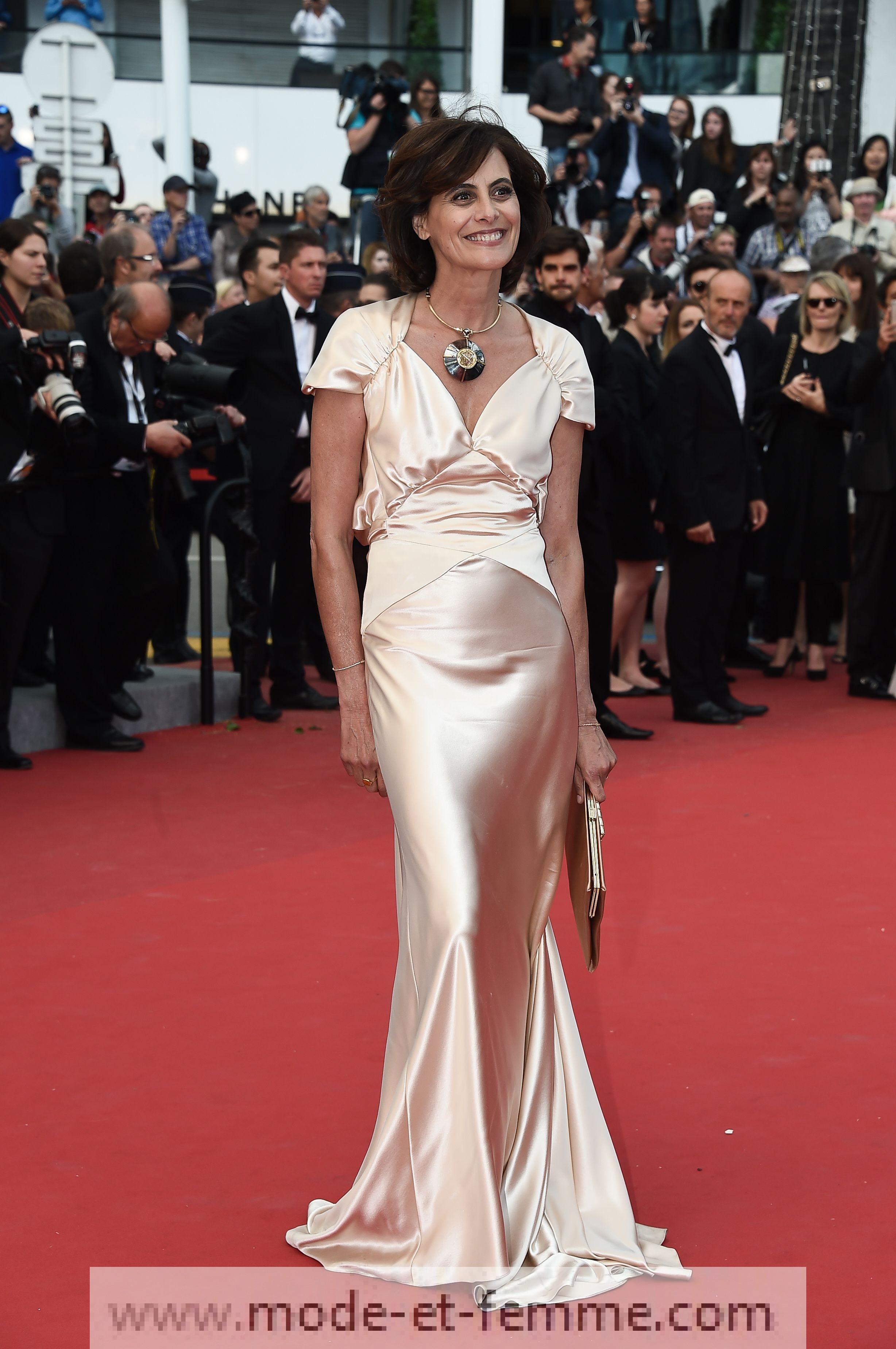 Robe d' Ines de la Fressange à Cannes