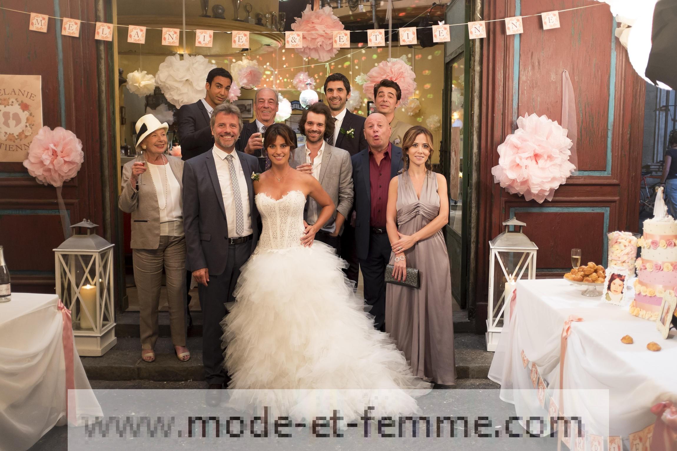 La robe de mariée de Mélanie dans Plus Belle La Vie: vous aimez ?