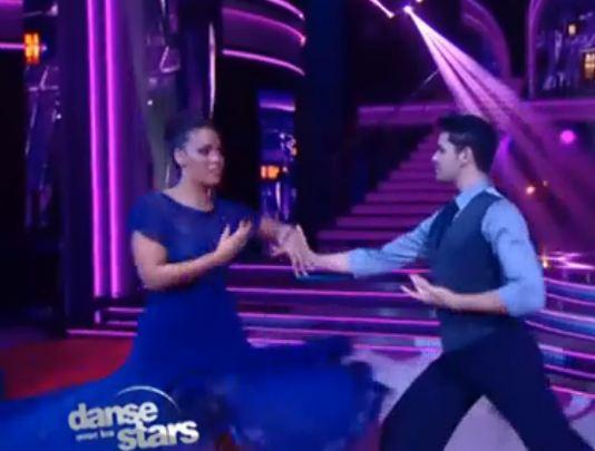 Amel Bent dans Danse avec les Stars du 13 Octobre