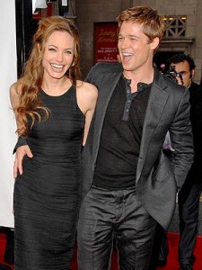 Mariage d' Angelina Jolie et Brad Pitt