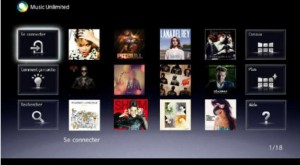 Application Music Unlimited Sony pour iPhone et Ipod Touch
