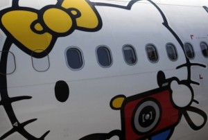 Les avions Hello Kitty