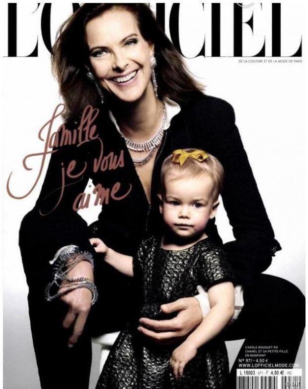 Carole Bouquet et sa petite fille Dacha