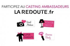 Casting La Redoute sur Facebook