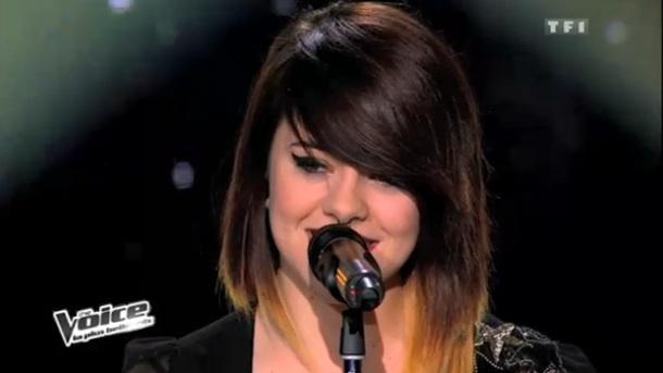 Cécilia Pascal chante Pokerface dans The Voice