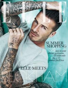 David Beckham couverture Elle