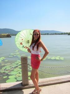 Delphine Wespiser en Chine