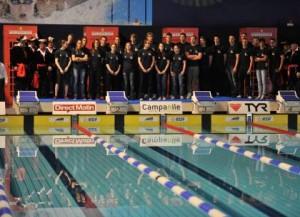 L'équipe France de natation féminine des JO 2012