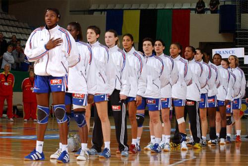 L 'équipe de France de handball féminin aux JO 2012