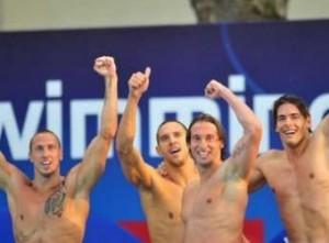 L'équipe de France de natation masculine des JO 2012