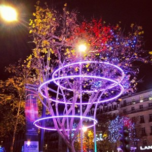 Illuminations de Noël des Champs-Elysées