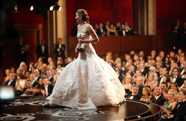 Jennifer Lawrence en Dior Oscars 2013