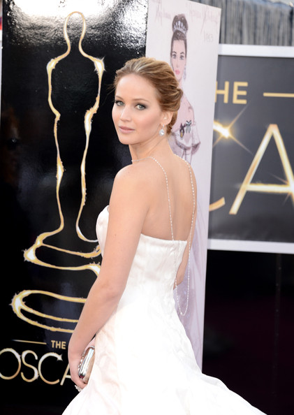 Jennifer Lawrence en robe Dior Oscars 2013