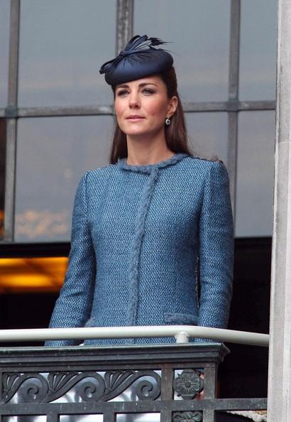 Kate Middleton en manteau bleu au Jubilé