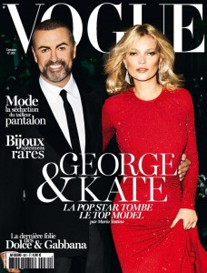 Kate Moss et George Michael en couverture de Vogue