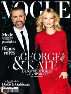 Kate Moss et George Michael en couverture de Vogue