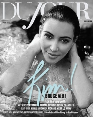 Kim Kardashian enceinte pose pour DuJour