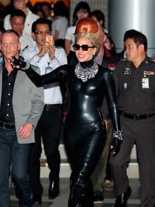 Lady gaga en cuir