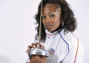 Laura Flessel porte-drapeau aux JO 2012