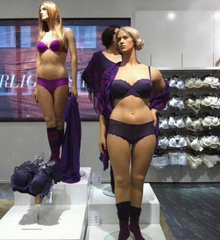 Mannequins avec des formes chez H&M Lingerie