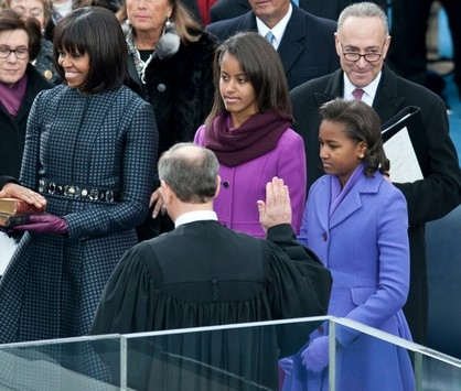Michelle Obama en manteau Thom Browne