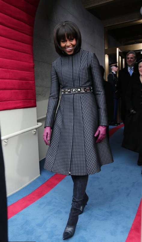 Michelle Obama en manteau Thom Browne