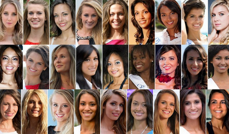 Candidates à l'élection Miss France 2013