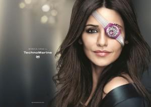 Monica Cruz  borgne pour TechnoMarine