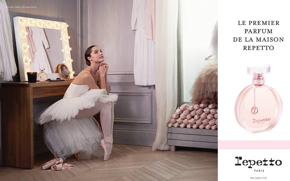 Dorothée Gilbert égérie du 1er Parfum Repetto