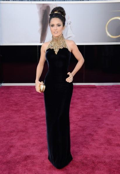 Salma Hayek en Alexander McQueen Oscars 2013