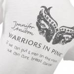 T-shirt de Jennifer Aniston contre le cancer du sein