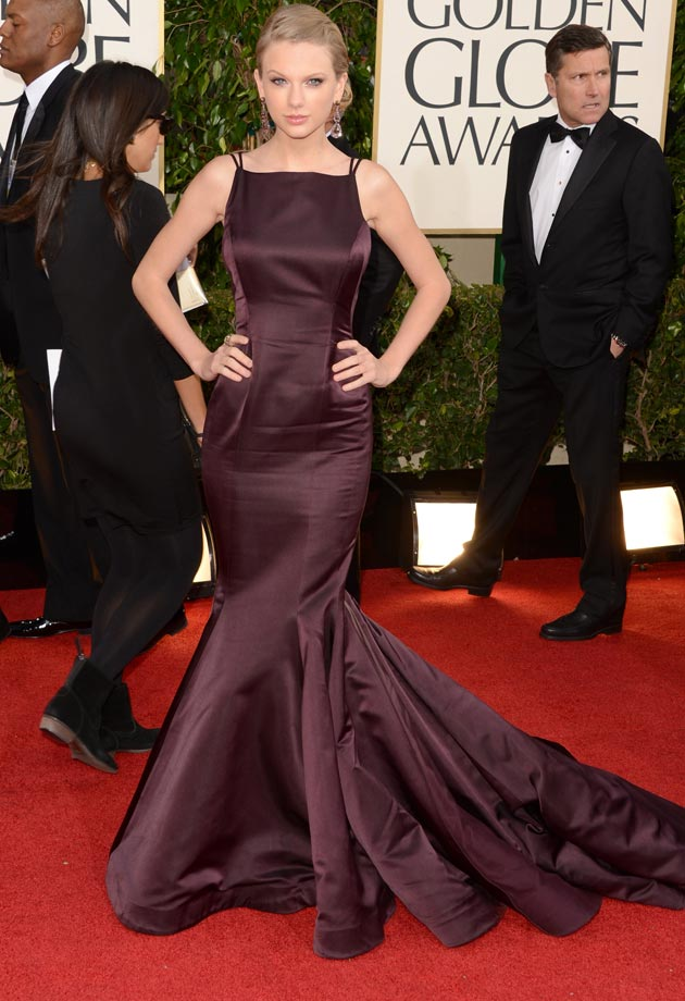chignon de Taylor Swift au Golden Globes 2013