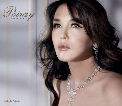 Isabelle Adjani visage de Poiray