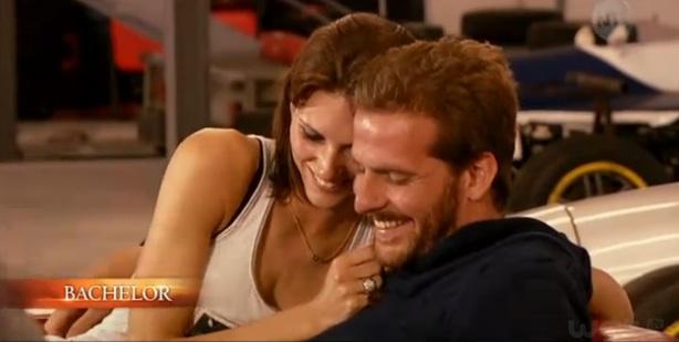 baiser d'Alexandra et Adriano Bachelor 2013