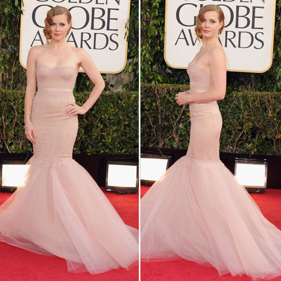 Amy Adams en robe nude Golden Globes 2013