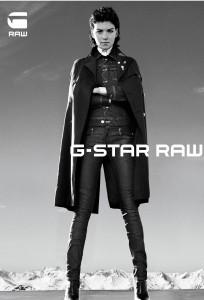 Arizona Muse visage de G-Star