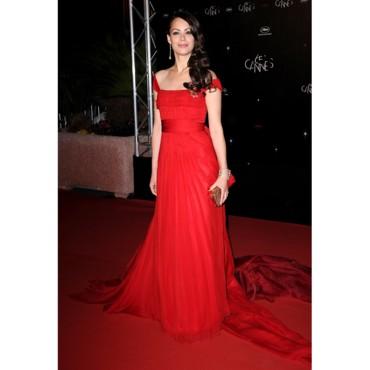 robe rouge de Berenice Bejo à Cannes