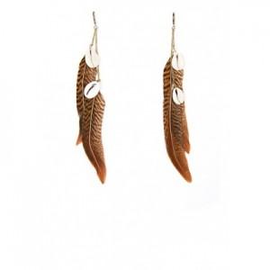 boucles oreilles plumes mango
