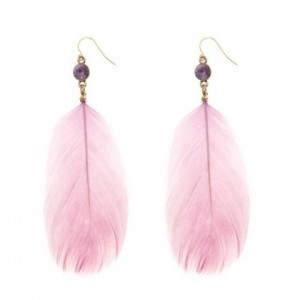 boucles oreilles plumes new look