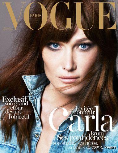 Carla Bruni en couverture de Vogue Décembre 2012