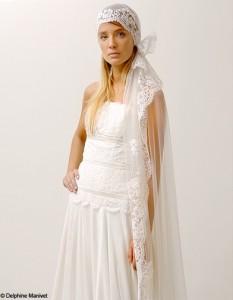 chapeau blanc mariage