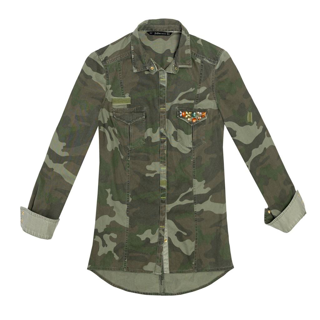 Chemise militaire Zara