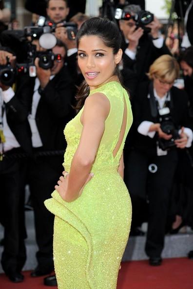 Coiffure de Freida Pinto à Cannes